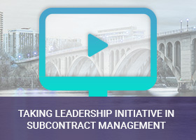 Taking Leadership Initiative In Subcontract Management